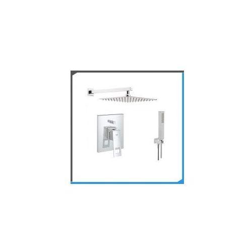 Zestawy Podtynkowy zestaw prysznicowy z baterią grohe eurocube 19896000, chrom zest48
