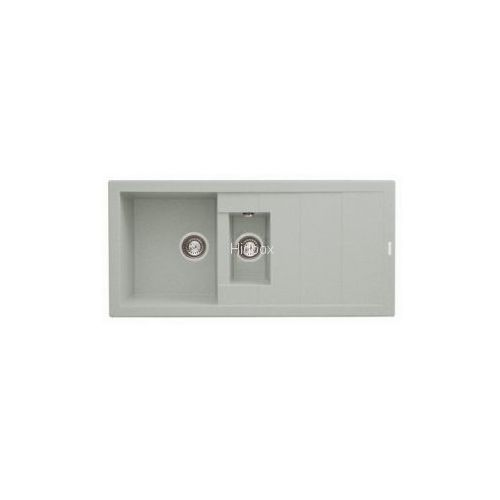 Zlew. STUDIO 100x48 1 1/2B 1D metal aluminium AS 070150802