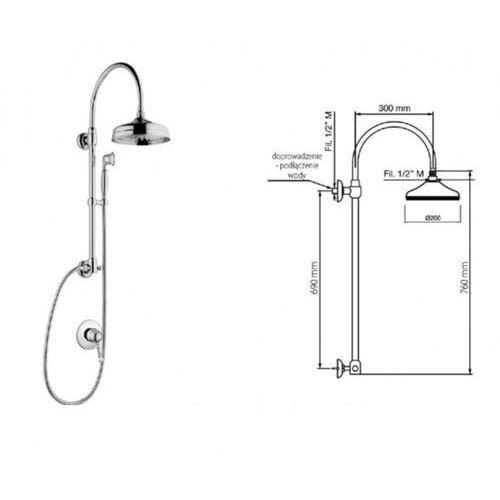 Giulini giovanni Giulini g symphony zestaw prysznicowy sy9515-01261 skorzystaj z dodatkowych rabatów na wybrane fabryki