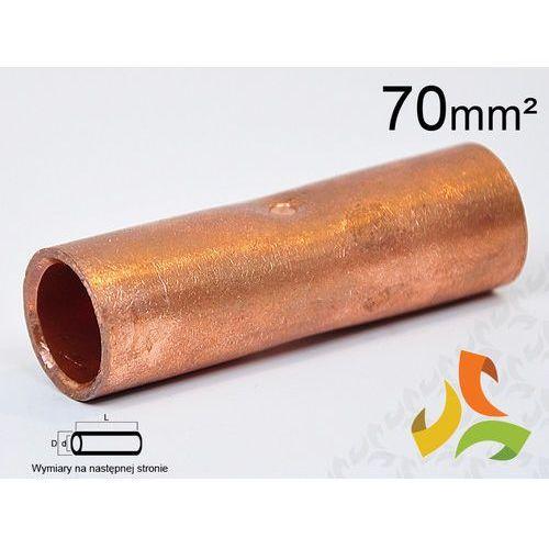 TULEJKA ZŁĄCZKA KABLOWA MIEDZIANA 70mm (5907511911229)