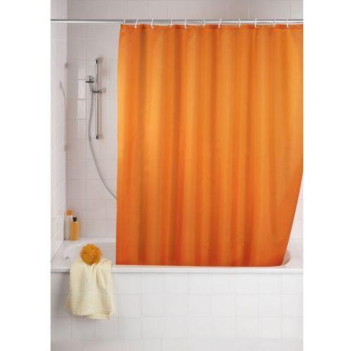 Wenko Zasłona prysznicowa, tekstylna, kolor pomarańczowy, 180x200 cm, (4008838120507)