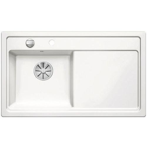 Zlewozmywak ZENAR 45S ceramika biały połysk lewa komora z korkiem InFino, 524152