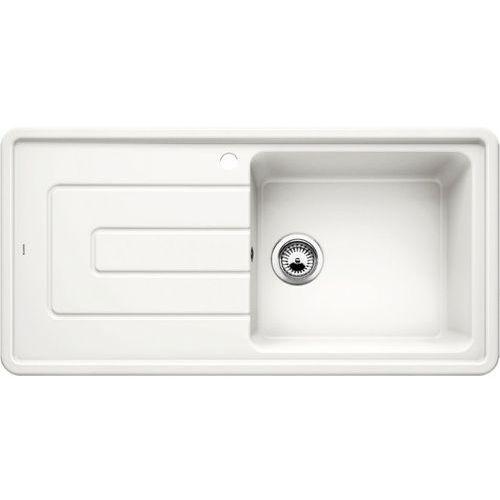 Zlewozmywak ceramiczny BLANCO TOLON XL 6S BIAŁY POŁYSK (komora PRAWA) z korkiem manualnym (520426) (4020684621991)