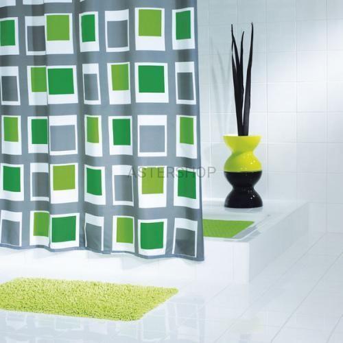 Ridder Up&down poliestrowa zasłona prysznicowa, zielony 180x200cm 42935
