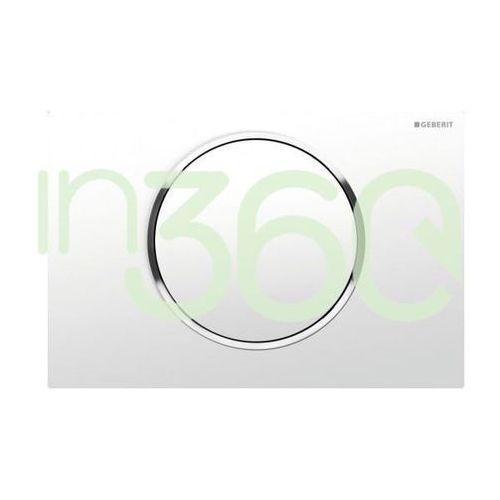 Geberit Sigma10 Przycisk uruchamiający przedni biały-chrom bł.-biały 115.758.KJ.5