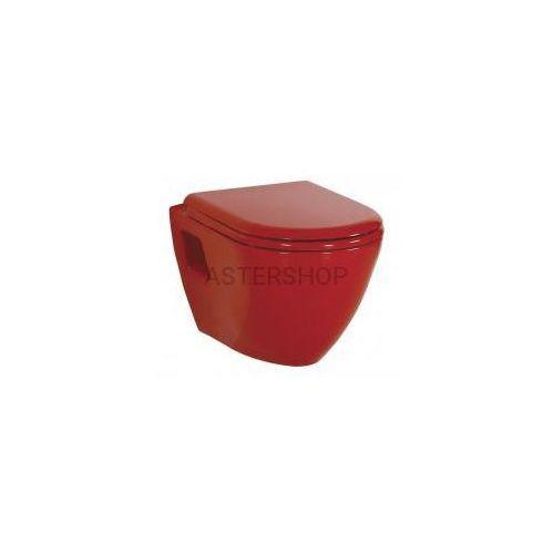 Creavit Paula miska wc podwieszana 35,5x50 cm, kolor: czerwony tp325.70100