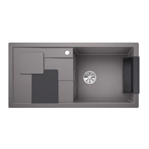 BLANCO SITY XL 6 S Silgranit PuraDur Alumetalik prawa, InFino, z akcesoriami lava grey - Alumetalik
