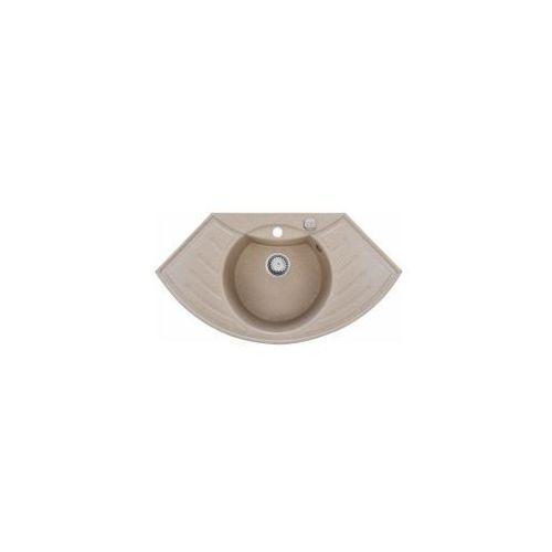 FORB Zlewozmywak granitowy narożny, beżowy 5906660181149