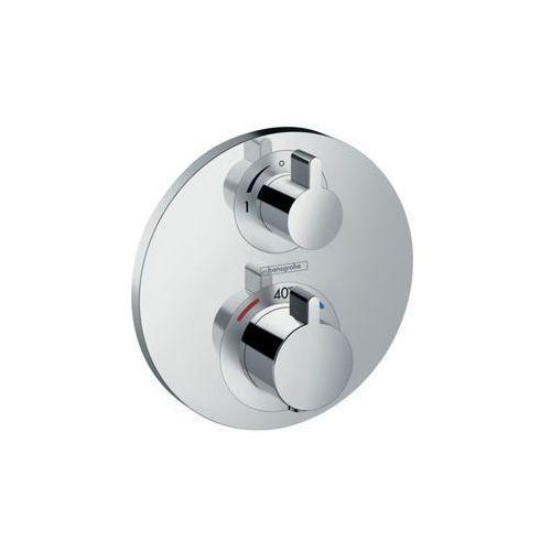 bateria termostatyczna podtynkowa ecostat s z zaworem odcinającym, montaż podtynkowy, element zewnętrzny ecostat s 15757000 marki Hansgrohe