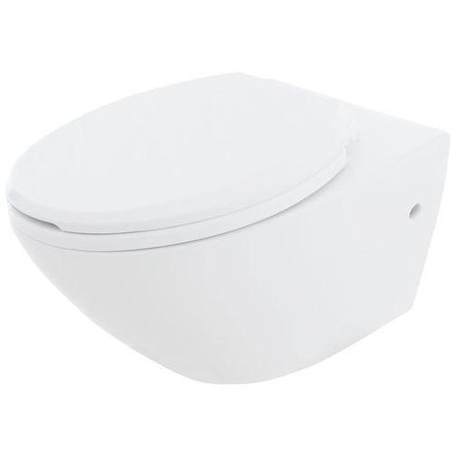 Miska wisząca WC bezkołnierzowa, Leon Rimless Rea