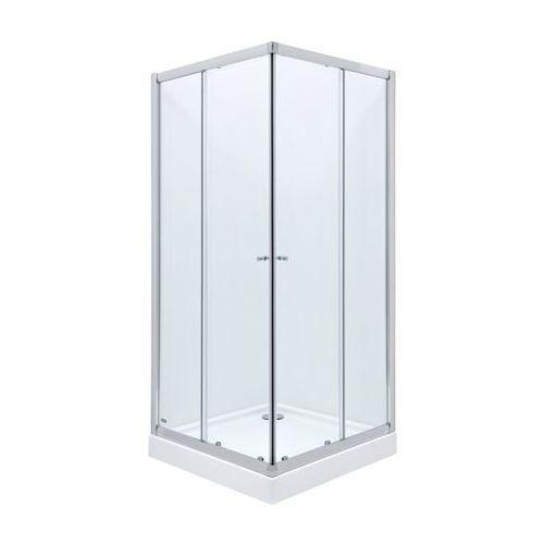 Roca Roca city new square kabina 90x90x185 cm, profile aluminiowe chrom, szkło transparentne amp0209012 90 x 90 (AMP0209012)