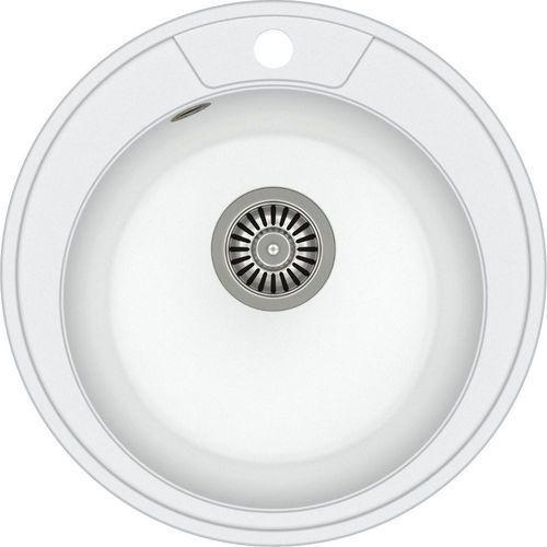 Zlewozmywak danny 210 biały metalik + odpływ stalowy [hb8301u1-bs] marki Quadron