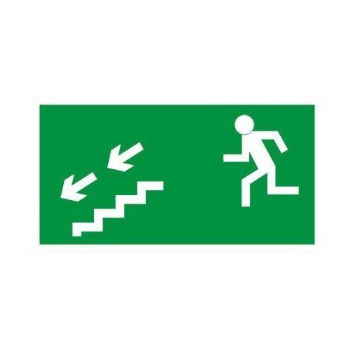 Oznakowanie informacyjne i ostrzegawcze, Znak Kierunek ewakuacji schodami w lewo w dół