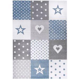 Dywan Dziecięcy Komfort Easy Niebieski Biały 180x270 Roomzonepl