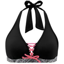 Biustonosz bikini z ramiączkami wiązanymi na szyi bonprix czarny