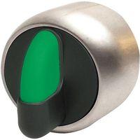 Pozostały sprzęt przemysłowy, niklowany 3 pozycyjny (45 stopni) 1 - 0 - 2 zielony PSMB2T0NL