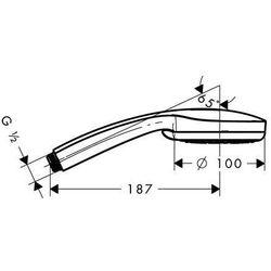 Hansgrohe główka prysznicowa Croma® 100 Multi EcoSmart 28538000