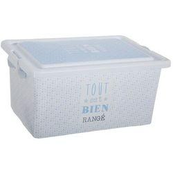Pudełko ozdobne, prostokątne, zamykane, niebieski, 38,5 x 18,5 x 27,5 cm