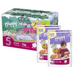 Bella Baby Happy Pieluszki jednorazowe 5 junior 12-25 kg 116 sztuk