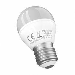 Żarówka LED E27 P45 4W 6000K biała zimna 320lm mała kulka Yassno 0881