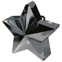 Pozostałe dekoracje, Obciążnik ciężarek do balonów napełnionych helem - Gwiazda czarna - 170 g.