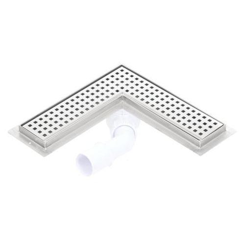 Kesmet odpływ narożny syfon plastikowy 800x900