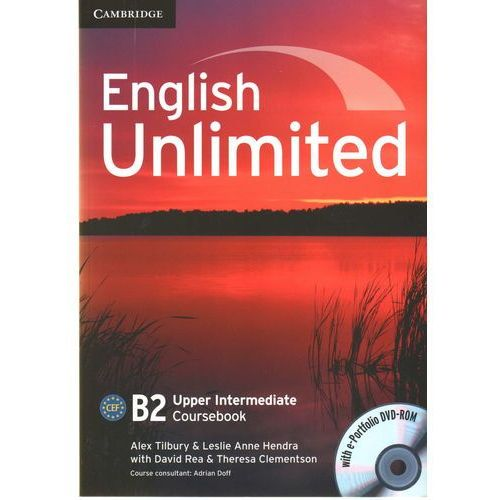 Książki do nauki języka, English Unlimited Upper Intermediate Coursebook (podręcznik) with e-Portfolio (lp) (opr. miękka)