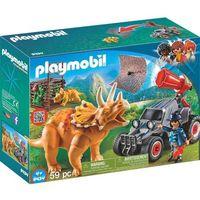 Klocki dla dzieci, Playmobil Samochód terenowy z działającą wyrzutnią sieci - the explorers 9434