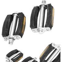 Pedały rowerowe, Pedały gumowo-metalowe BL-124 /srebrne okucie/ odblaski 9/16