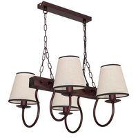 Lampy sufitowe, Lampa wisząca Luminex Carin 8694 lampa sufitowa 4x60W E14 brąz / beż