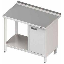 Stół przyścienny z szafką z drzwiami skrzydłowymi po prawej stronie i półką 1800x700x850 mm | STALGAST, 980517180
