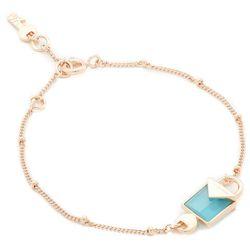 Bransoletka MICHAEL KORS - Padlock Bracelet MKC1041AI791 Rose Gold Blue