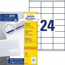 Trwałe etykiety uniwersalne Avery Zweckform A4 100ark./op. 70x35mm białe