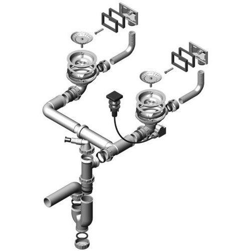 "Syfon podwójny z odpływem automatyczny 3 1/2"""" pop-up do variant (1077134) marki Alveus"