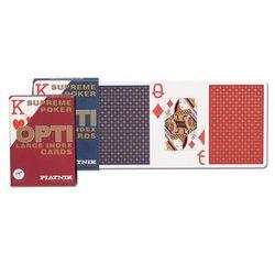 Opti poker - duże indeksy, talia niebieska - karty do gry