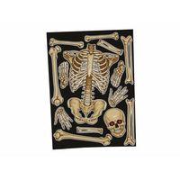 Pozostałe wyposażenie domu, Dekoracja na okno Szkielet na Halloween - 30 x 40 cm - 1 szt.