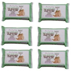 Zestaw 6xBezzapachowe Organiczne Chusteczki Nawilżane, 72 szt., Beaming Baby