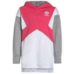 adidas Originals HOODIE Bluza z kapturem real pink/white/medium grey heather