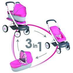 Wózek spacerówka gondola dla lalek 3w1 Smoby Maxi Cosi & Quinny 253197