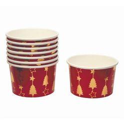 Pucharki kubeczki do lodów bożonarodzeniowe Choinka - 8 szt.