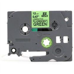 Taśma Brother TZe-D11 6mm x 5m fluorescencyjna zielona czarny nadruk - zamiennik | OSZCZĘDZAJ DO 80% - ZADZWOŃ!