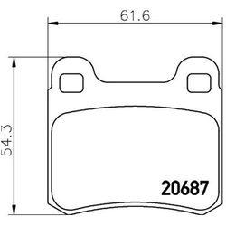 Zestaw klocków hamulcowych, hamulce tarczowe TEXTAR 2068701