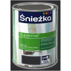 Emalia Olejno-Ftalowa Supermal Czarny RAL 9005 0,8L Śnieżka