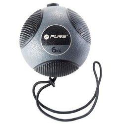 Piłka lekarska z liną PURE 2 IMPROVE Medicine Ball Rope 6 kg