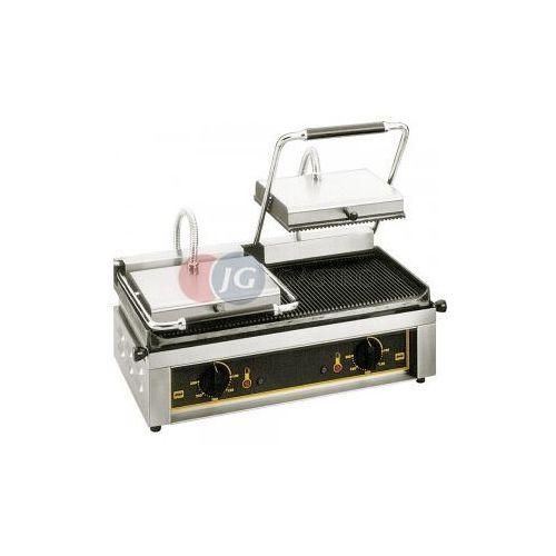Grille gastronomiczne, Grill kontaktowy elektryczny podwójny ryflowany Roller Grill 777217