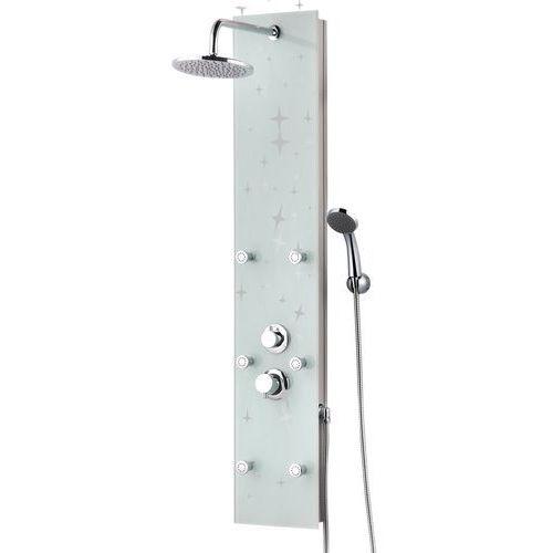 Panel prysznicowy z górną deszczownią, szklany Karla Kerra