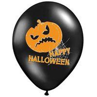 Balony, Balony czarne na Halloween - Dynie - 37 cm - 5 szt.