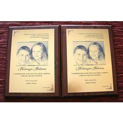 DYPLOM ŚLUBNY - DS003 - Podziękowanie dla rodziców z fotografią - komplet 2 szt.