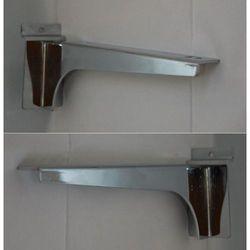 """Para (prawy + lewy) wsporników dł. 20cm pod półkę, na panel typu """"space wall"""" - chromowane"""