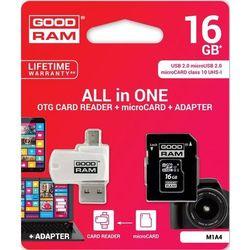 GOODRAM microSDHC 16GB CL10 + ADAPTER + CZYTNIK DARMOWA DOSTAWA DO 400 SALONÓW !!
